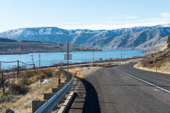 Estrada asfaltada nas montanhas , Washington Imagem de Stock Royalty Free