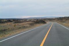 Estrada asfaltada obscura Imagem de Stock