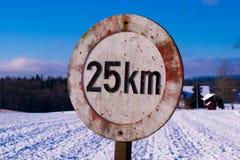 A estrada assina dentro Noruega Imagem de Stock Royalty Free