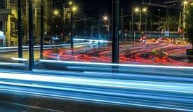 Estrada Atenas da noite. Fotos de Stock