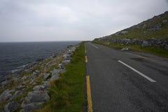 Estrada atlântica da costa Imagens de Stock