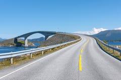 Estrada atlântica em Noruega imagem de stock