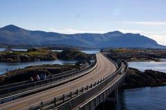 Estrada atlântica perto de Molde em Noruega sul fotografia de stock royalty free