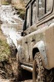 Estrada através da lama Foto de Stock Royalty Free