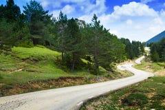 Estrada através da montanha imagens de stock