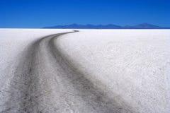 Estrada através de Salar Fotografia de Stock