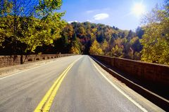Estrada através dos Appalachians Fotografia de Stock Royalty Free