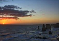Estrada Austrália do oceano de 12 apóstolos grande Fotografia de Stock
