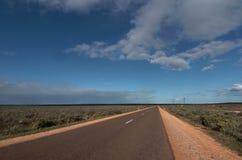 Estrada australiana do interior do betume Imagem de Stock