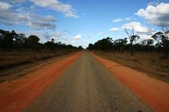 Estrada australiana do interior, Queensland Fotos de Stock Royalty Free