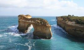 Estrada Austrália do oceano do desfiladeiro de Ard do Loch grande Imagens de Stock