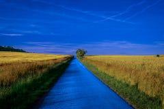A estrada azul Fotografia de Stock Royalty Free
