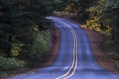 Estrada azul fotografia de stock royalty free