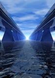 Estrada azul da velocidade Fotografia de Stock Royalty Free