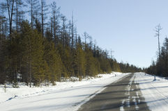 Estrada a Baikal imagem de stock