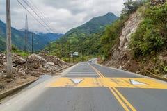 Estrada Banos - Puyo, Equador foto de stock