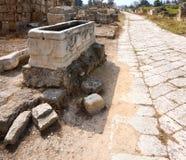 Estrada bizantina, pneumático, Líbano Imagem de Stock