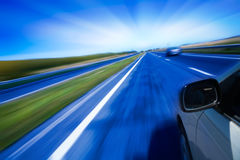 Estrada borrada movimento Imagem de Stock Royalty Free