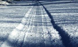 Estrada branca Foto de Stock
