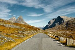 Estrada cênico de Trollstigen em Noruega Fotografia de Stock