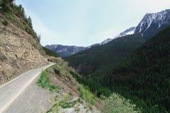 Estrada Canadá da montanha Imagens de Stock