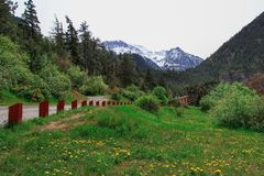 Estrada Canadá da montanha Fotografia de Stock