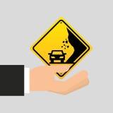 A estrada canta o ícone do cuidado Imagens de Stock