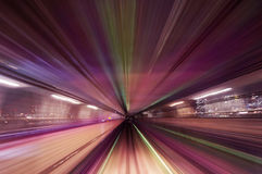 Estrada colorida do trem do borrão de movimento Foto de Stock Royalty Free