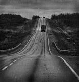 A estrada com caminhões foto de stock royalty free
