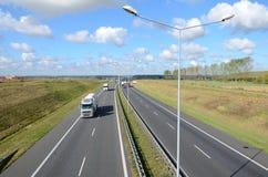 Estrada com carros Imagens de Stock