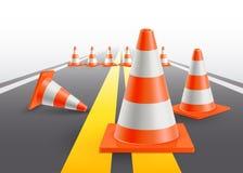 Estrada com construção inferior Fotos de Stock
