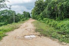 Estrada com linha amarela Imagem de Stock Royalty Free
