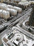 Estrada com neve imagens de stock royalty free