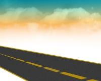 Estrada com nuvens Foto de Stock Royalty Free