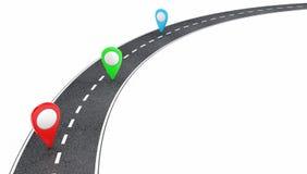Estrada com ponteiros Imagens de Stock
