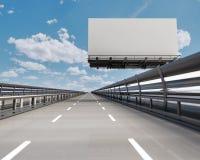Estrada com quadro de avisos Fotografia de Stock
