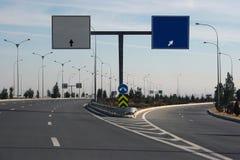 Estrada com sentido. Ashkhabad. Turkmenistan. fotografia de stock