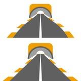 Estrada com túnel Foto de Stock