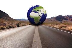 Estrada com terra fotografia de stock royalty free