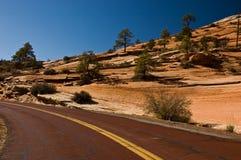 Estrada com Zion Fotos de Stock Royalty Free