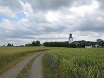 A estrada conduz à igreja Fotografia de Stock