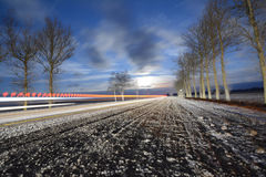 Estrada congelada Fotografia de Stock