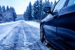 Estrada congelada Fotografia de Stock Royalty Free