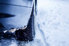 Estrada congelada do inverno Imagem de Stock