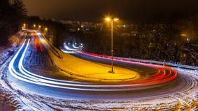 Estrada congelada do inverno Imagem de Stock Royalty Free