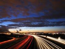 Estrada crepuscular foto de stock royalty free
