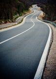 Estrada curvada Fotografia de Stock