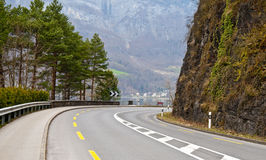 Estrada curvada Imagens de Stock