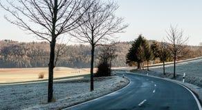 Estrada curvada Fotografia de Stock Royalty Free