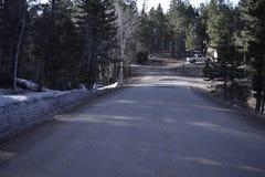 Estrada curvada montanha Imagem de Stock Royalty Free